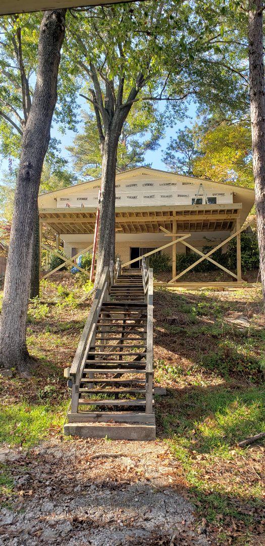 Deck porch addition