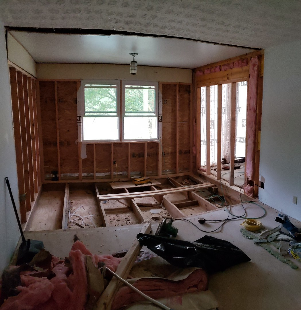 Enclosing old porch and enlarging bedroom