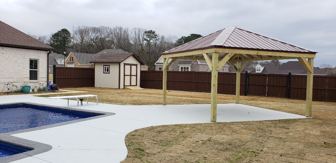 Millbrook, AL - Shed and pavilion
