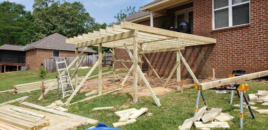 Day 3 on deck/porch rebuild