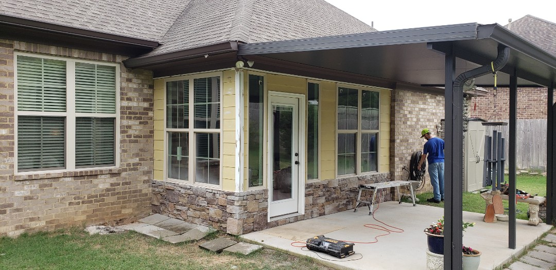 Siding and trim up and ready for paint!