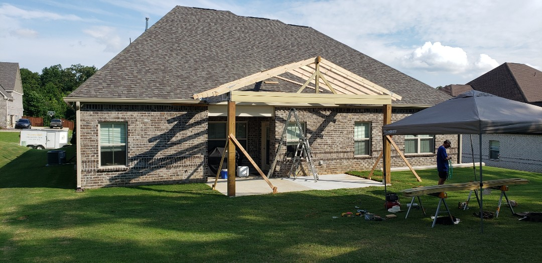 Open gable covered patio