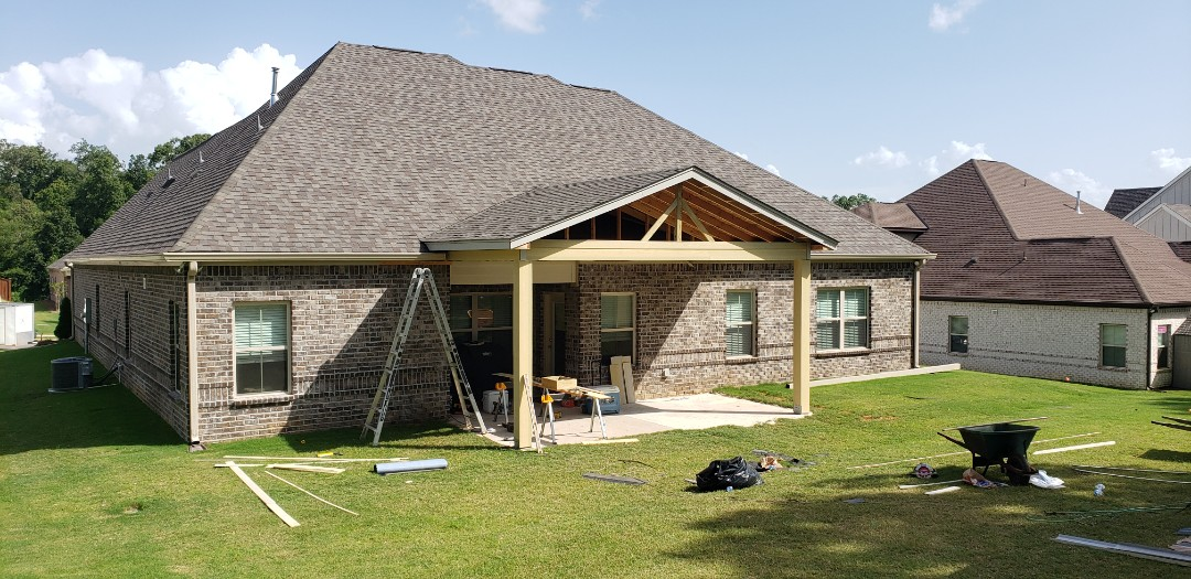 Patio cover roof done!