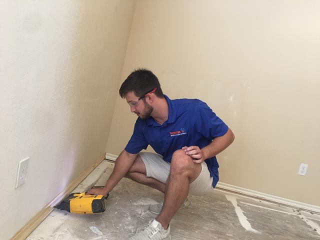 Broken Arrow, OK - Installing new trim and removing and replacing damaged floors.