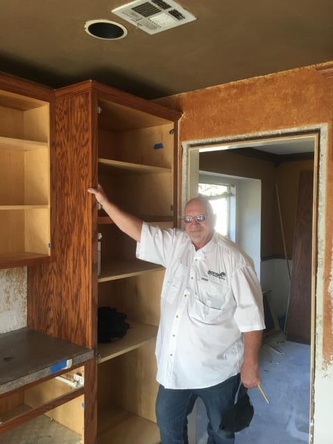 Broken Arrow, OK - Installing new cabinetry for home owner after the old ones had to be removed from a water loss