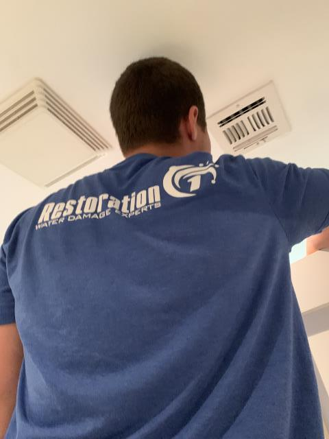 Tulsa, OK - Cleaning air ducts on a residential property, during this process ducts are treated with antimicrobial agents which helps to protect your ducts from developing mold growth.