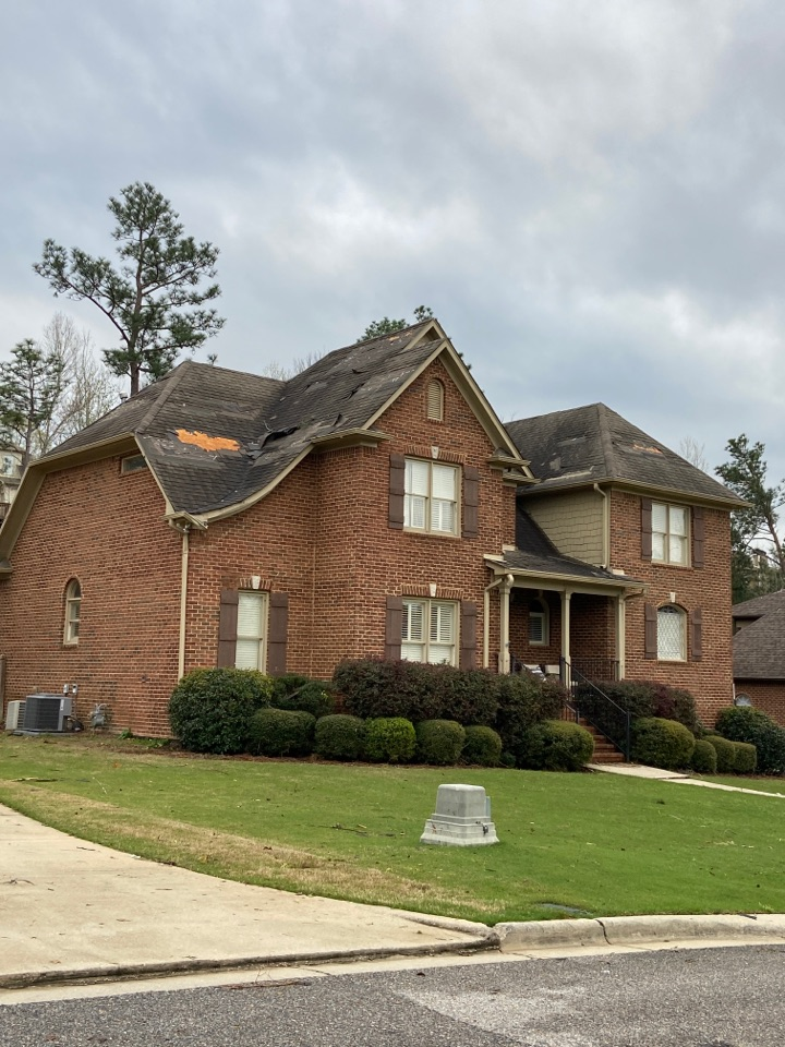 Birmingham, AL - Call us Eaglepoint. Elevated roofing has tarps on hand to help.