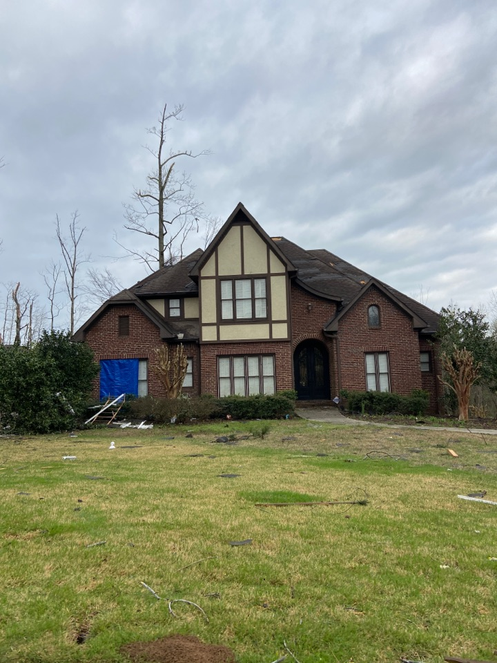 Birmingham, AL - Storm damage in Hoover- we are out with tarps getting everyone taken care of. Call us