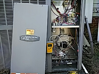 Pelzer, SC - Performed annual Heating maintenance on Armstrong air package unit.
