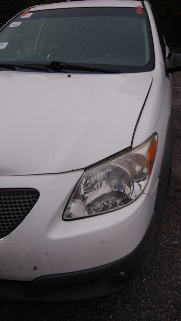 Replaced windshield on Pontiac Vibe broken by deer hit for a customer at her work
