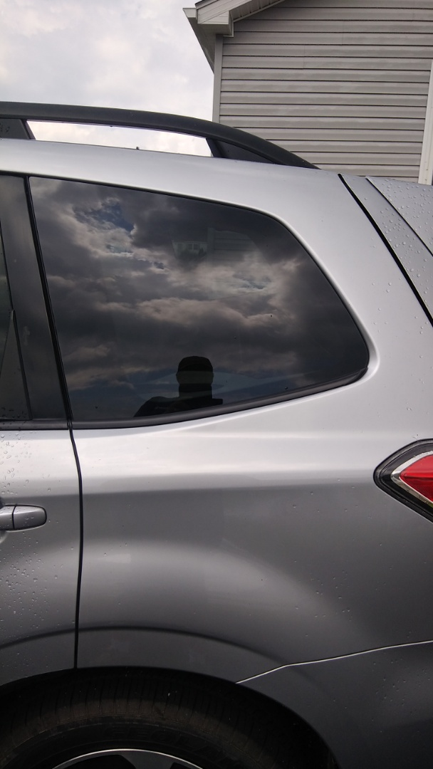 Replaced quarter glass on Subaru Forester for a customer at her home