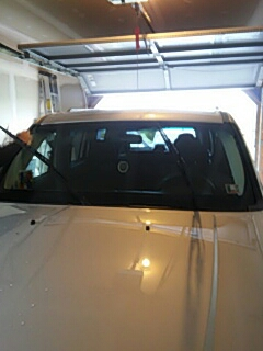 Brodheadsville, PA - Replaced windshield on Jeep Liberty for Keystone Auto Sales in Brodheadsville Pa