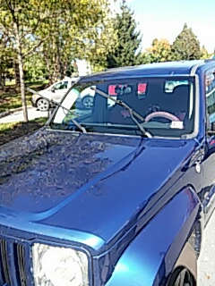 Bethlehem, PA - Replaced windshield on Jeep Liberty at Coordinated Health in Bethlehem, PA