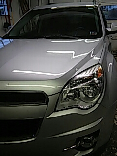 Bartonsville, PA - Repaired windshield on Chevrolet Equinox in the shop