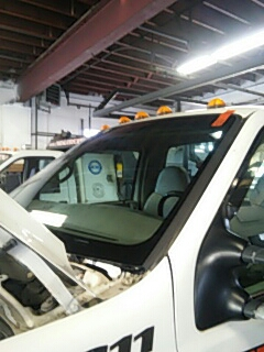 Bath, PA - Replaced windshield on Ford F350 for Coco's Garage