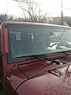 Slatington, PA - Replaced windshield on Jeep Wrangler for a customer at their house
