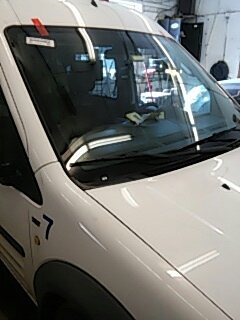 Kunkletown, PA - Replaced windshield on Ford Transit Connect for Syracuse Auto Body