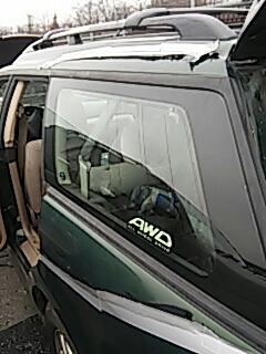 Bath, PA - Installed quarter glass on Subaru Outback for Weddes Auto Sales to replace broken glass