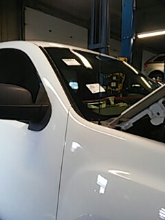 Allentown, PA - Replaced cracked windshield on GMC Sierra for Dreisbach Auto