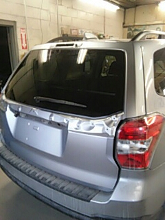 Coaldale, PA - Removed and reinstalled back glass on Subaru Forester for Folweilers Auto Body