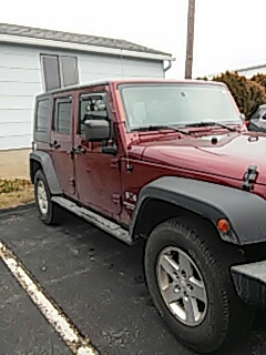 Slatington, PA - Replaced windshield on Jeep Wrangler for Rentschler Jeep at their shop