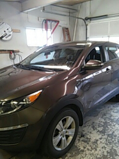 Lehighton, PA - Replaced windshield on Kia Sportage for a customer in the shop
