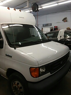 Kunkletown, PA - Replaced windshield on Ford Econoline for Syracuse Auto Body