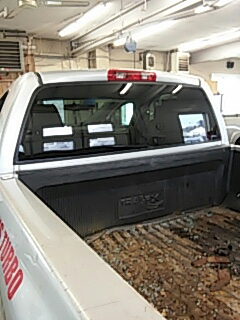 Slatington, PA - Replaced back glass on Dodge pick-up for Rentschler