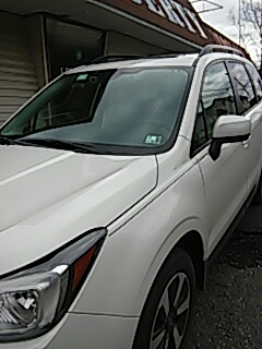 Lehighton, PA - Replaced windshield on Subaru Forester for a customer in the shop