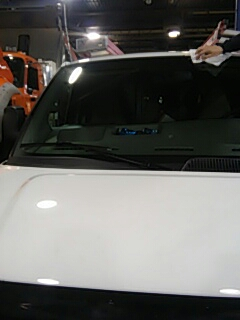 White Haven, PA - Replaced windshield on Chevrolet Express for a customer at their shop