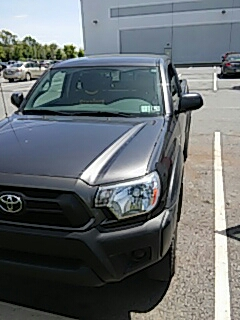 Easton, PA - Replaced back glass on Toyota Tacoma for a customer at their work
