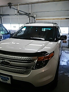 Lehighton, PA - Replaced windshield on Ford Explorer for a customer in the shop