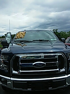 Schnecksville, PA - Repaired windshield on Ford F150 for a customer at their work