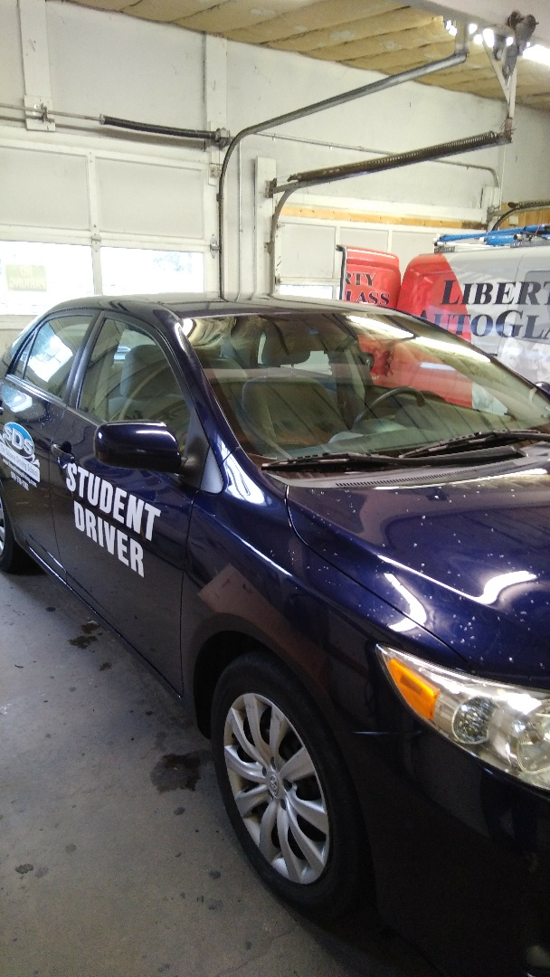 Lehighton, PA - Replaced windshield on Toyota Corolla for Safeway Driving School in our shop