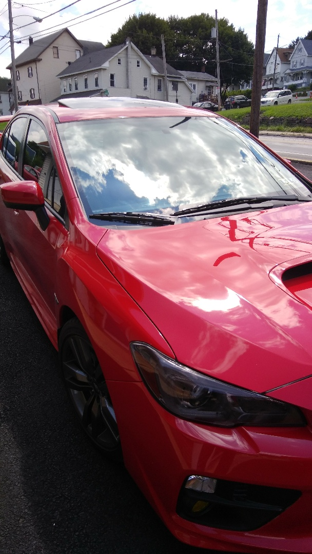 Lehighton, PA - Repaired windshield on Subaru WRX for a customer in the shop