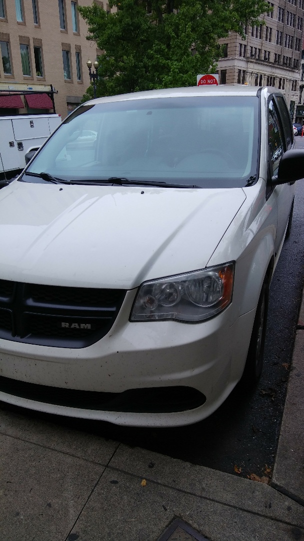 Easton, PA - Replaced windshield on Dodge Grand Caravan for a customer at their work