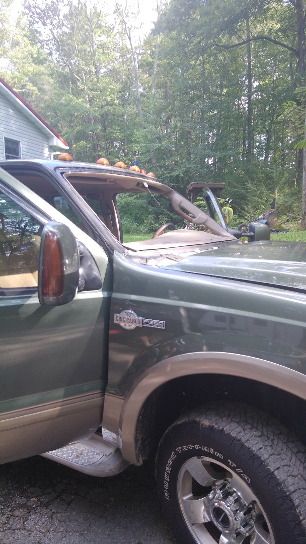 Palmerton, PA - Replaced windshield on a Ford Super Duty for a customer and processed their claim with Erie Insurance for them