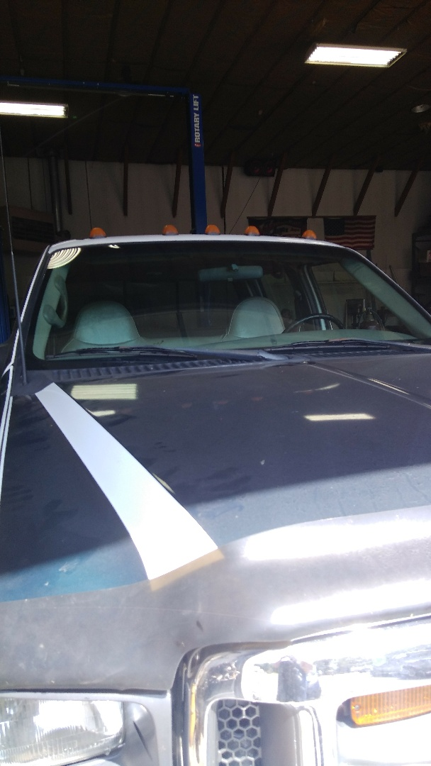Slatington, PA - Replaced windshield supplied by customer in their work truck Ford F450