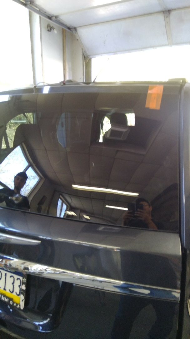Lehighton, PA - Installed back glass on Chrysler Town and Country for Leibenguths Auto Body