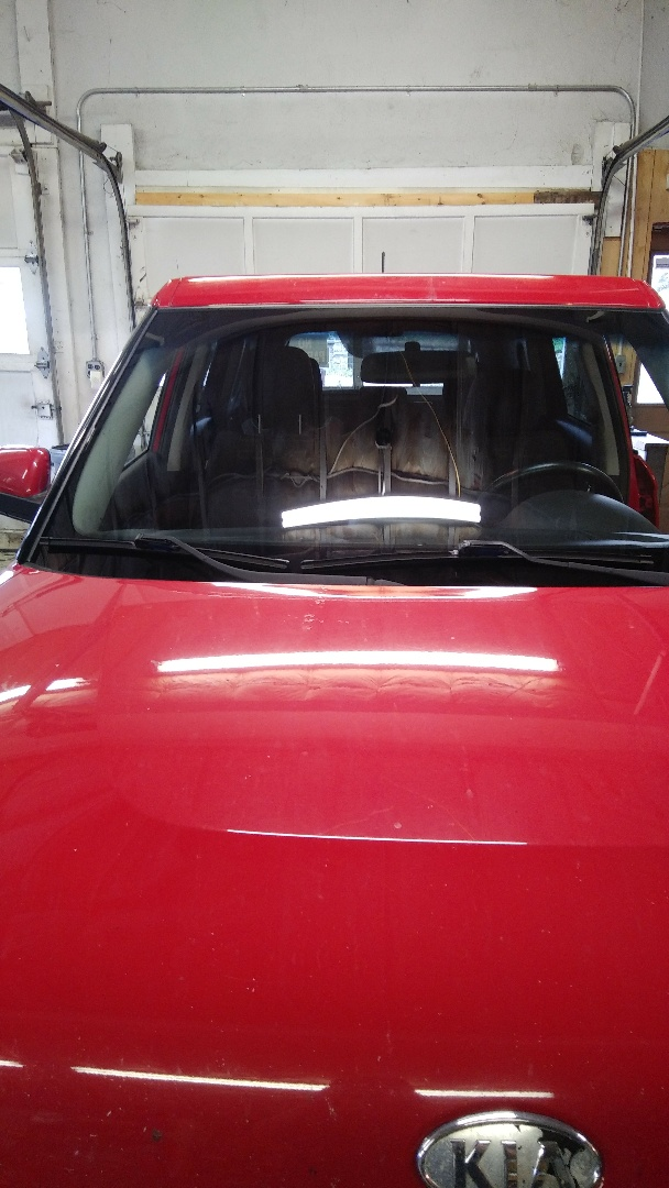 Lehighton, PA - Replaced windshield on KIA Soul for a customer at the shop and processed his claim with State Farm Insurance