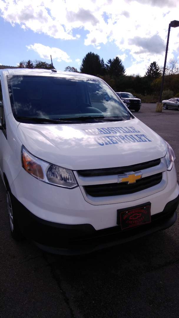 Brodheadsville, PA - Replaced windshield on Chevy City Express for Brodeheadsville Chevrolet