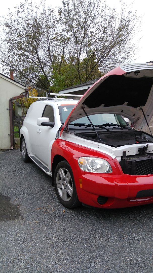Slatington, PA - Replaced windshield on Chevy HHR for a customer at their location and processed their insurance claim with Allstate Insurance
