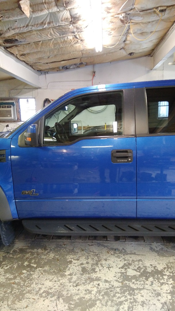 Lehighton, PA - Replaced door glass on Ford Raptor for a customer in the shop at the exact price quoted