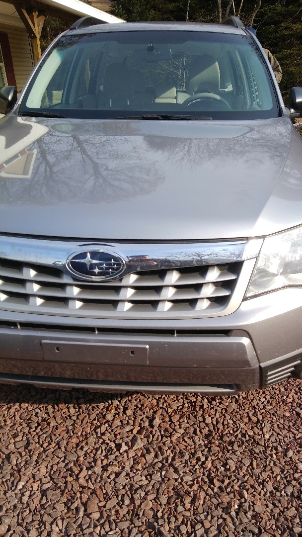 Albrightsville, PA - Replaced windshield on Subaru Forester for a customer at his home at the exact price quoted