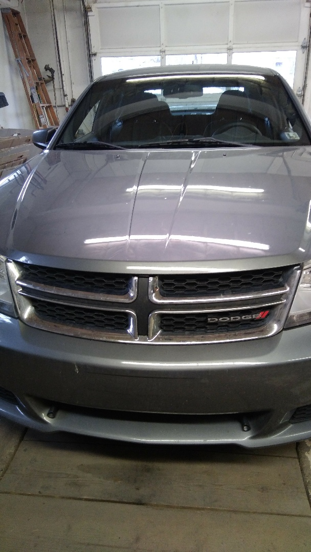 Lehighton, PA - Replaced windshield on Dodge Avenger for a customer in the shop and processed his claim with State Farm