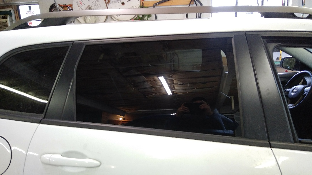 Replaced door glass for a customer in our shop and processed her claim through State Auto Insurance