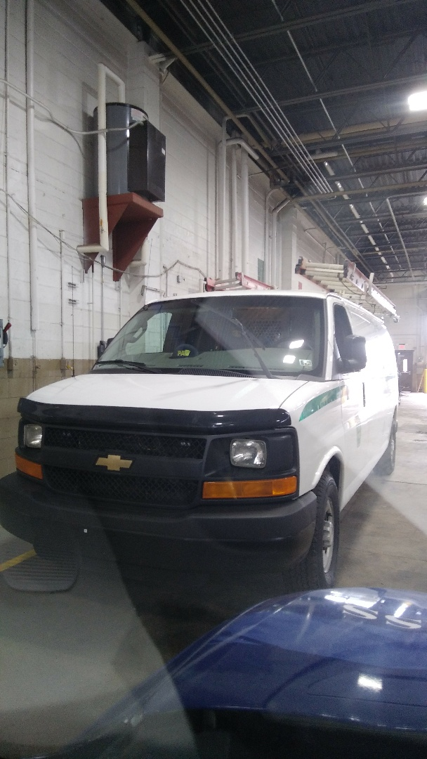 White Haven, PA - Replaced windshield on Chevy Express for PA Turnpike