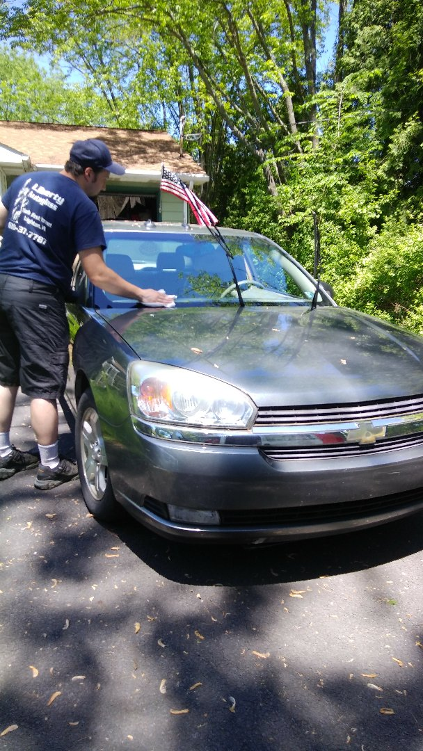 Stroudsburg, PA - Replaced windshield on Chevy Malibu for a customer at his home and processed the insurance claim with State Farm Insurance