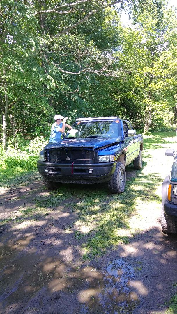White Haven, PA - Replaced windshield on Dodge Ram Pickup for a customer at his home for the exact price quoted