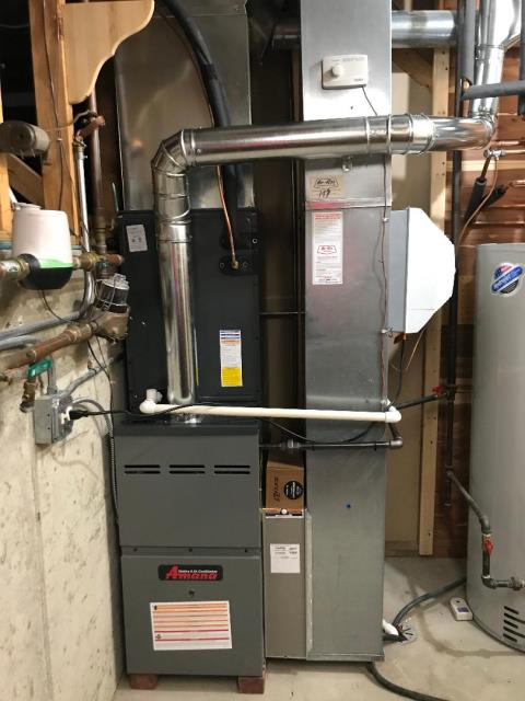 Huntley, IL - Finished installation of Amana furnace, & Amana air conditioner